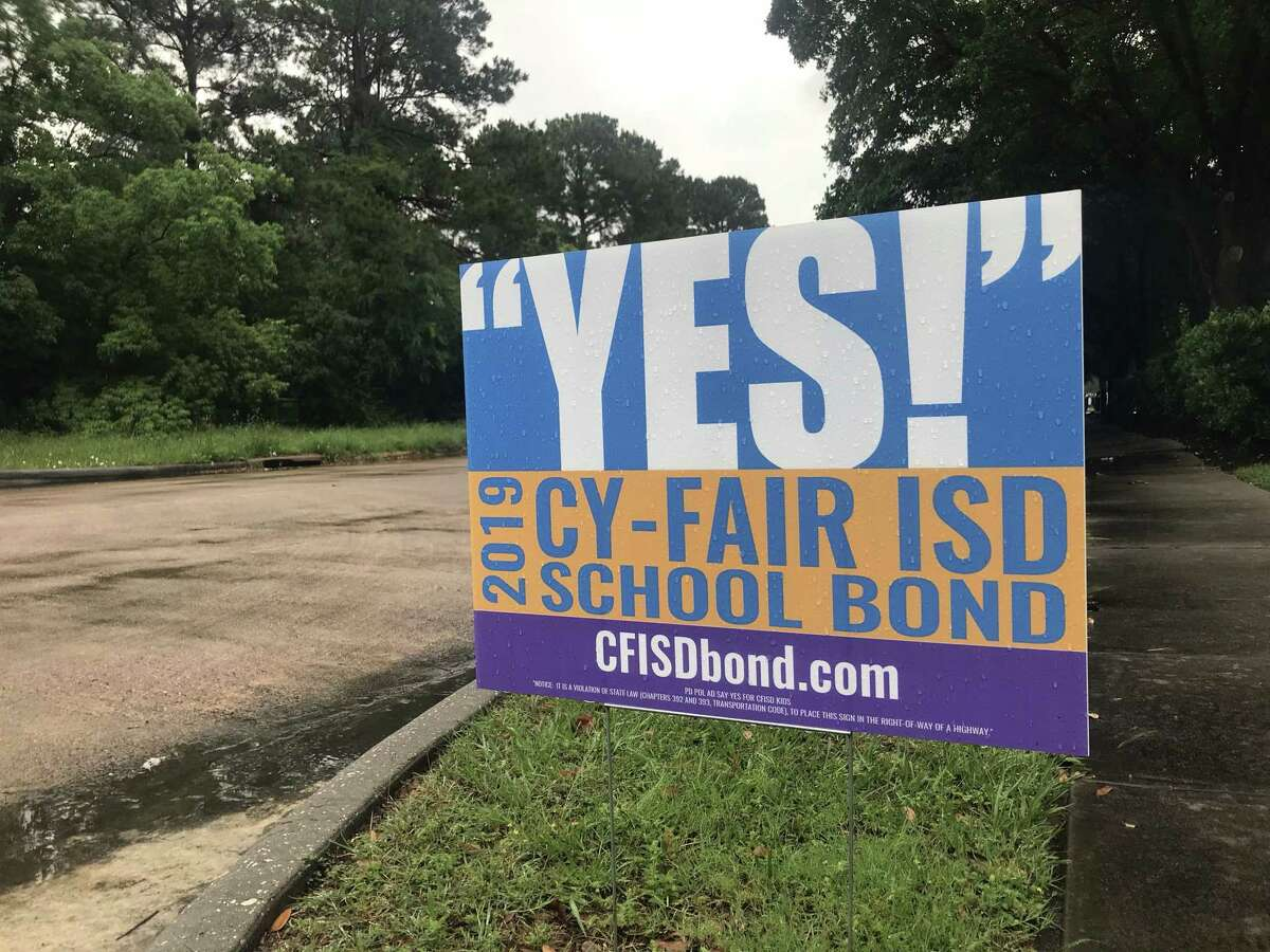 Cy-Fair ISD called for a $1.7 billion bond election in February. The bond election was held on May 4. The bond package includes transportation improvements and additional schools.