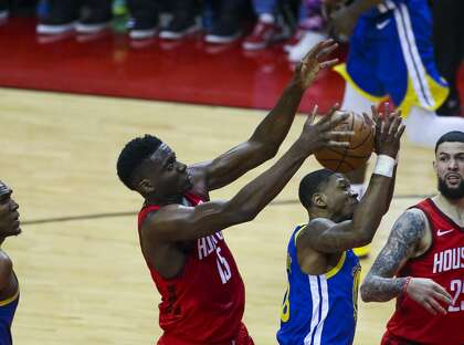69be05fb38d Center Clint Capela and the Rockets will need to amp up their rebounding  efforts to beat the Warriors