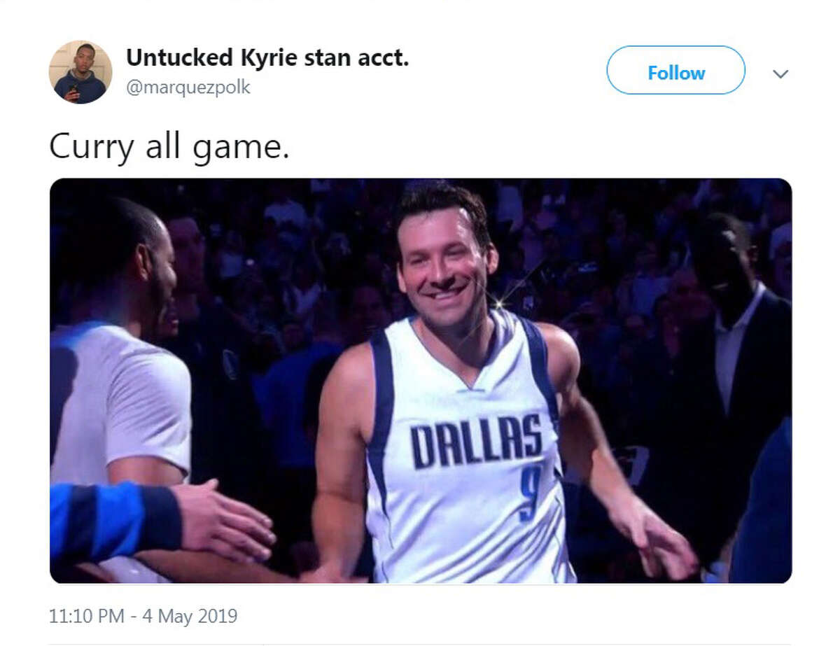 Twitter users went after Golden State's Steph Curry when he played poorly and missed a dunk in a Game 3 loss to the Rockets on Saturday, May 4, 2019.
