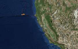 A number of earthquakes rattled off the coast of Northern California on the weekend of May 4, 2019.