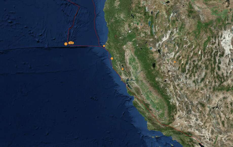 A number of earthquakes rattled off the coast of Northern California on the weekend of May 4, 2019. Photo: USGS