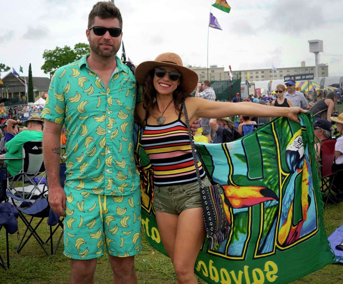People enjoy the second weekend of the 50th Annual New Orleans Jazz and Heritage Festival in New Orleans, La. The festival, which runs from April 25 to May 5, features such musical acts as the Dave Matthews Band, Dianna Ross, Jimmy Buffet and Trombone Shorty. #JazzFest50.