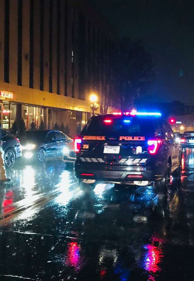A pedestrian was sent to the hospital after he was hit by a car at the intersection of North Main Street and Marshall Street in Norwalk on Sunday, May 5, 2019. Photo: Contributed Photo / Contributed / The News-Times Contributed