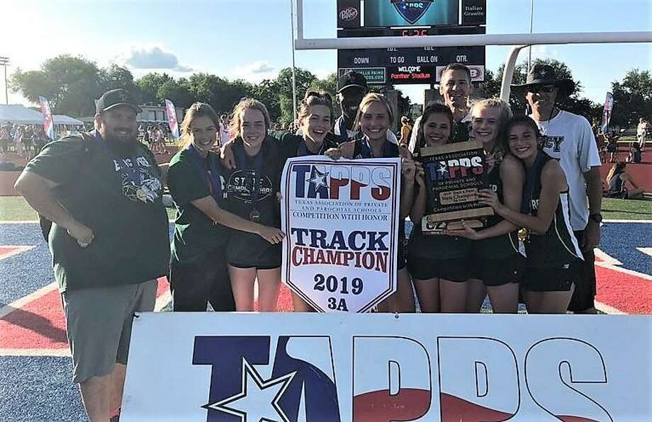 The Legacy Prep girls track and field team won the TAPPS Class 3A state championship this weekend in Waco. Photo: Submitted Photo