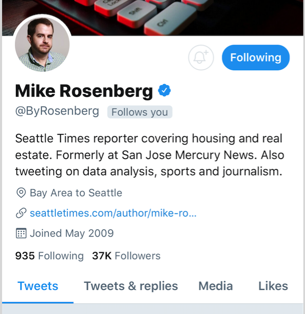 Journalist accuses Seattle Times reporter Mike Rosenberg of sending sexually harassing messages
