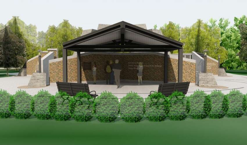 A rendering of what a Holocaust Memorial might look like on Route 7 in Niskayuna, which was included in a plan posted on the town's website in spring 2019.