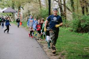 During the Brunswick School annual service day, members of the Brunswick Conservation Corps Club members built wooden bridges and cleared brush for trails that will allow Brunswick lower-school students to explore the wilderness through an outdoor class started and run by teacher Dana Montanez.