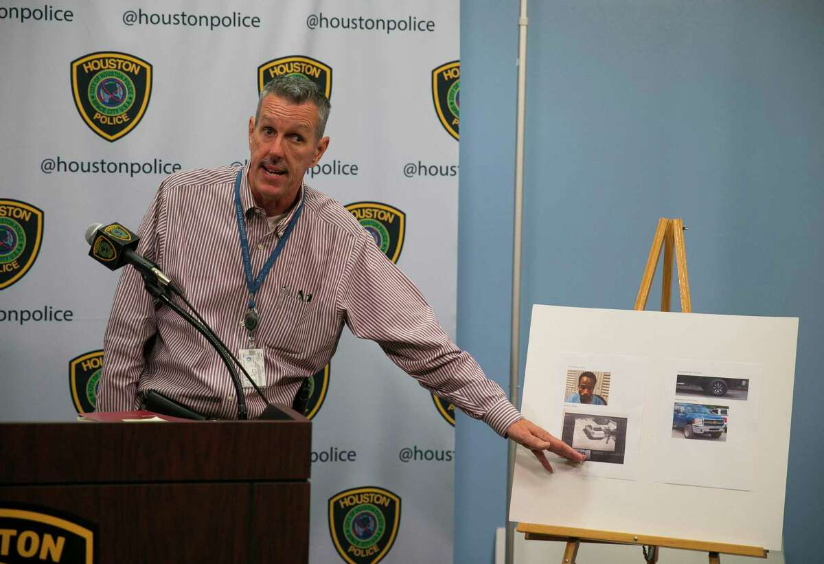 HPD Sgt. Mark Holbrook gives an update about Maleah Davis, a five-year-old girl missing since Saturday night, during a press conference at the Houston Police Department headquarters in downtown, Sunday, May 5, 2019.