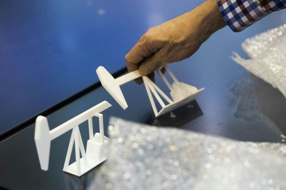 On the last day of the Offshore Technology Conference oil and energy companies take apart the models after exhibiting their products for four days. Thursday, May 3, 2018, in Houston. ( Marie D. De Jesus / Houston Chronicle )