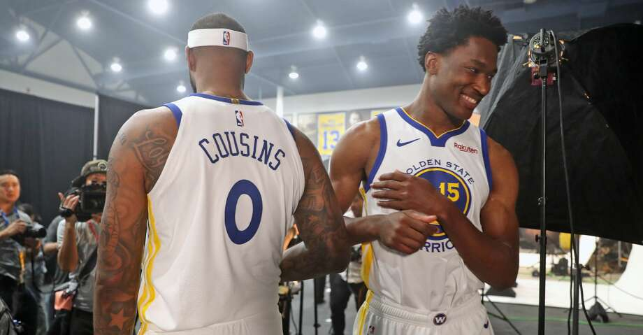 7f7b3c5ca87 PHOTOS: Rockets game-by-game Damian Jones and DeMarcus Cousins during  Golden State