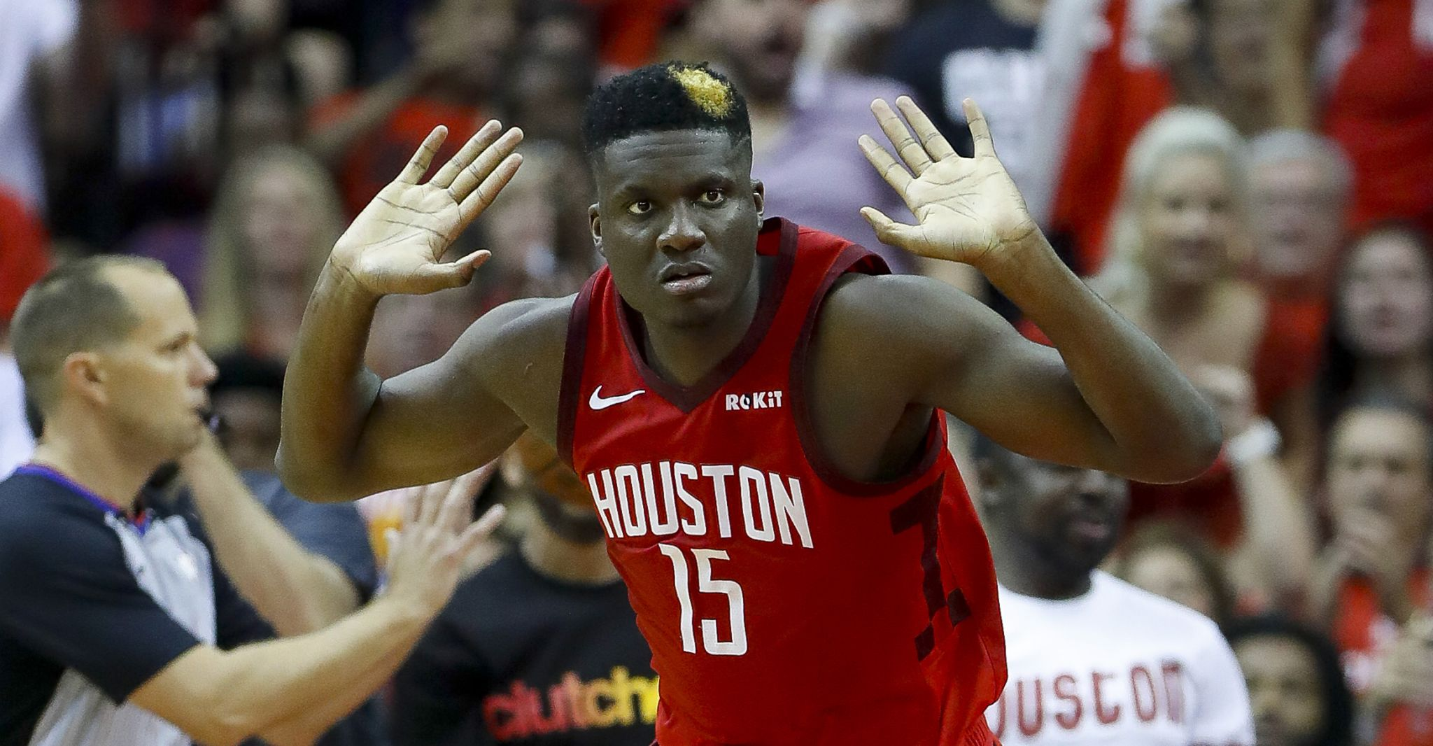 05cd478ba15c Rockets  Clint Capela rises to occasion in Game 3 - Houston Chronicle