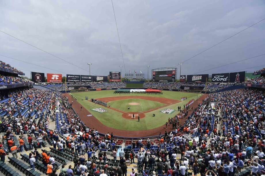 MONTERREY, MEXICO - MAY 05: General view of the Estadio de Beisbol Monterrey prior the Houston Astros vs Los Angeles Angels of Anaheim match as part of the Mexico Series at Estadio de Beisbol Monterrey on May 05, 2019 in Monterrey, Nuevo Leon. (Photo by Azael Rodriguez/Getty Images) Photo: Azael Rodriguez/Getty Images