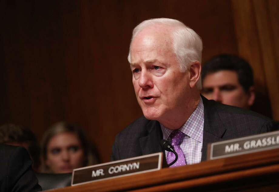 Senator John Cornyn, a Republican from Texas, speaks during a Senate Judiciary Committee hearing with William Barr, U.S. attorney general, not pictured, in Washington, D.C., U.S., on Wednesday, May 1, 2019. Barr will face new scrutiny from lawmakers on Wednesday after a revelation surfaced that he misrepresented Special Counsel Robert Mueller's findings about whether President Donald Trump obstructed justice. Photographer: Andrew Harrer/Bloomberg Photo: Andrew Harrer / Bloomberg / © 2019 Bloomberg Finance LP
