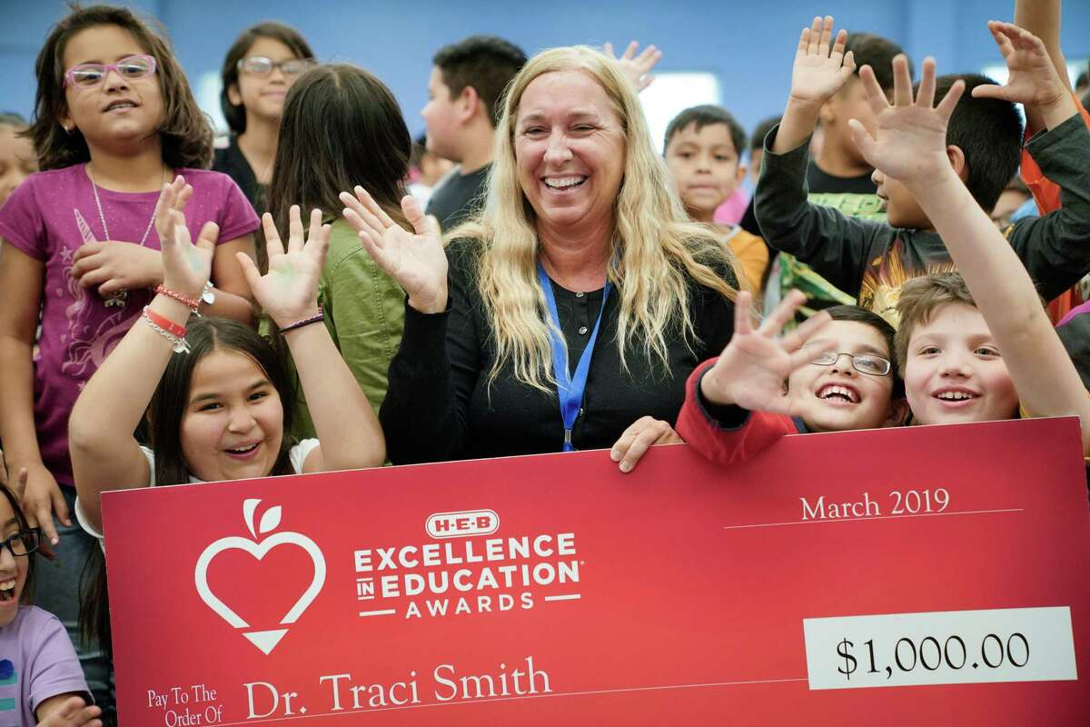 Traci Smith, principal at Stonewall Flanders Elementary School in the Harlandale ISD, was honored in the 2019 H-E-B Excellence in Education Awards. Photo courtesy H-E-B