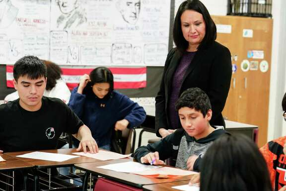 South Houston Intermediate School, led by Principal Laura Gomez, was one of four Pasadena ISD schools to receive an A grade from the Texas Education Agency.
