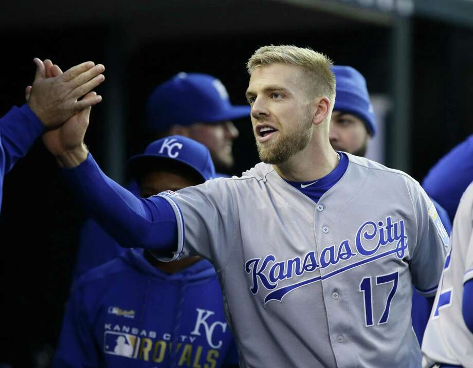Royals first baseman Hunter Dozier leads the American League in batting (.343) and slugging (.667). Photo: Duane Burleson, Stringer / Getty Images / 2019 Getty Images