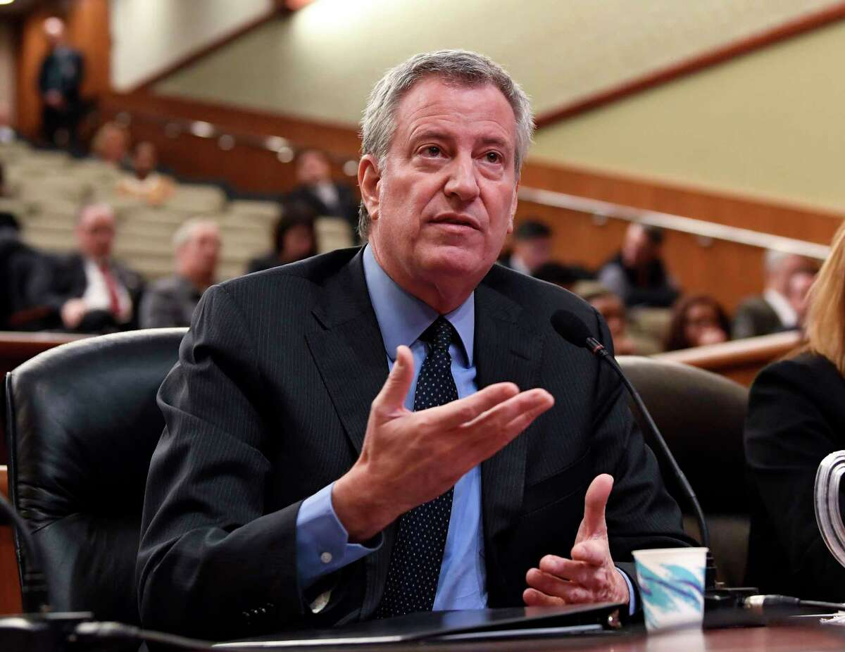 New York Mayor Bill de Blasio leads President Donald Trump 48 percent to 36 percent  in a Siena poll conducted in early June 2019.
