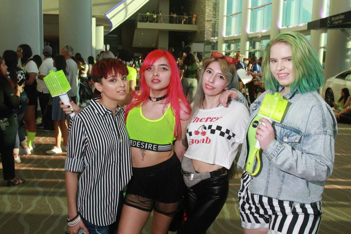 Fans attending the NCT 127 concert at Smart Financial Centre at Sugar Land.
