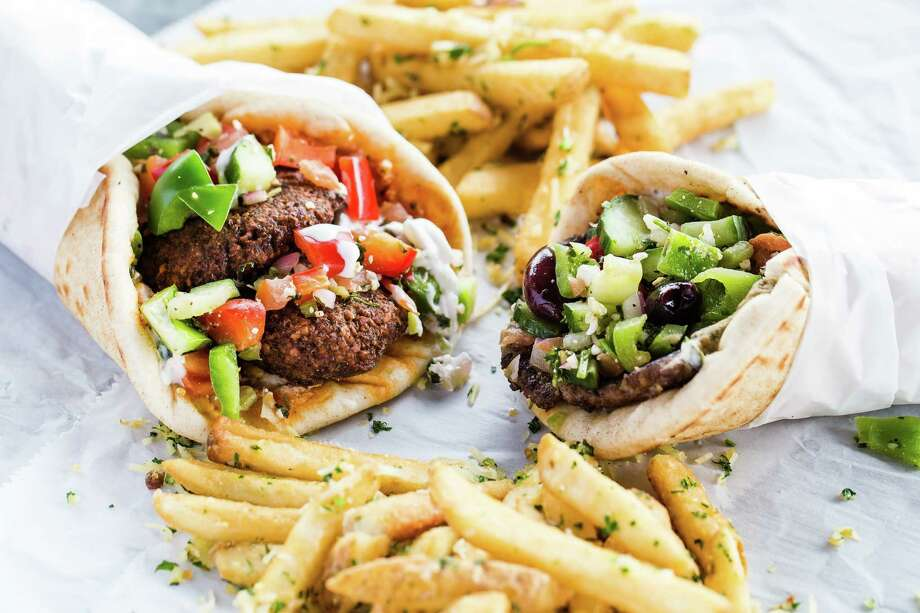 Antone's Famous Po'Boys is introducing a selection of menu items that pay tribute to the brand's history and Mediterranean roots. Shown: falafel gyro. Photo: Becca Wright