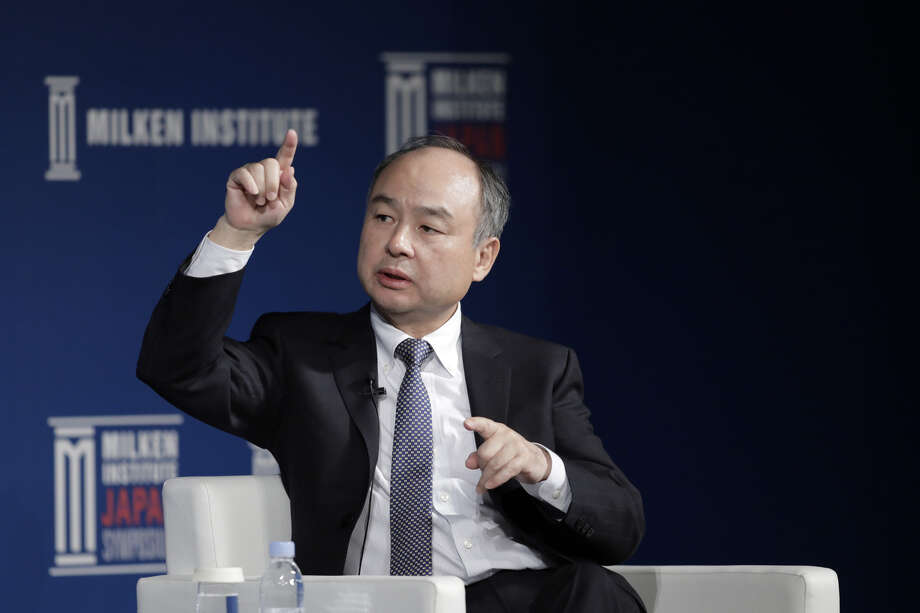 Masayoshi Son, chairman and chief executive officer of SoftBank Group Corp., speaks during the Milken Institute Japan Symposium in Tokyo on March 25, 2019. Photo: Bloomberg Photo By Kiyoshi Ota. / © 2019 Bloomberg Finance LP