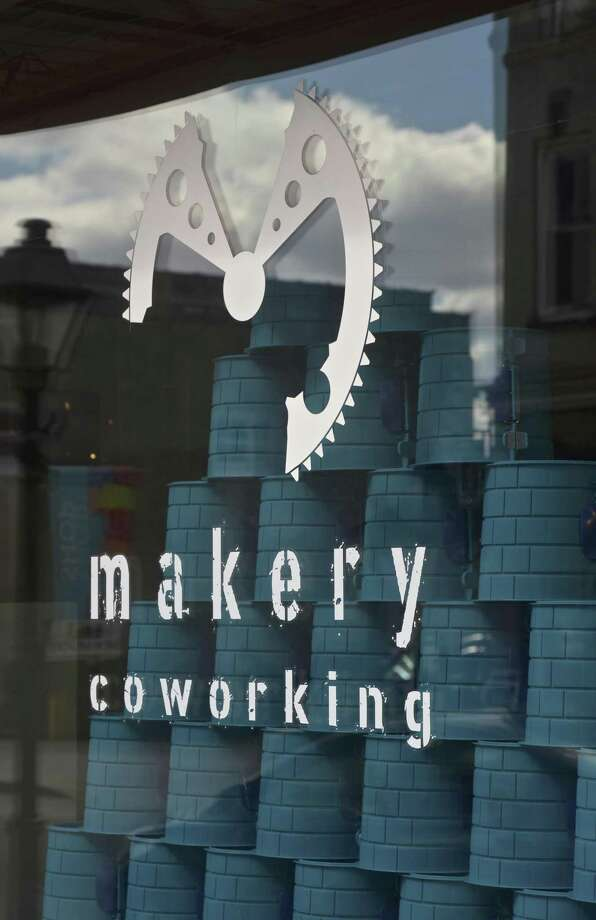 File photo of Makery Coworking, on Bank Street. Photo: H John Voorhees III / Hearst Connecticut Media / The News-Times