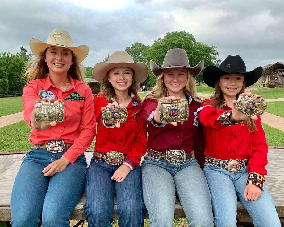 Pictured from left are Isabelle Picklo, Hailey Moore, Carson Rutherford, Jordan Jackson and not pictured is Harlee Foley. The teens all qualified in Region VI for Texas High School and Junior High School State Finals of the Texas High School Rodeo Association in May-June where they will compete against qualifiers from all 10 regions in Texas. The State Finals Rodeo is an annual, week long event where qualifying JH and HS students across Texas compete for numerous awards, scholarships and the opportunity to represent Texas at the National Level Photo: Courtesy Photo