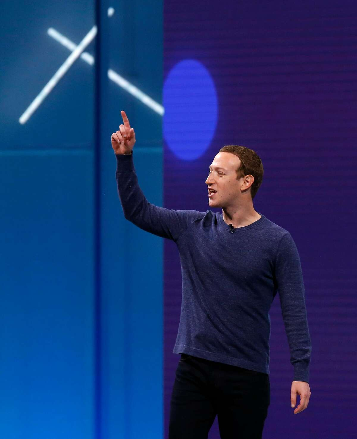 Facebook founder and CEO Mark Zuckerberg at the Facebook F8 developers conference in San Jose, Calif. on Tuesday, May 1, 2018. Federal regulators are weighing fines against the company.