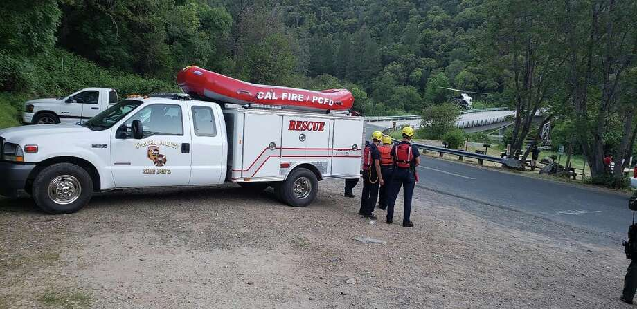 The California Highway Patrol, Cal Fire's Nevada Yuba Placer unit, State Parks, the Placer County Sheriff and the Colfax Fire Department responded to a rafting accident on Sat., May 4, 2019. Photo: CAL FIRE Nevada Yuba Placer Unit