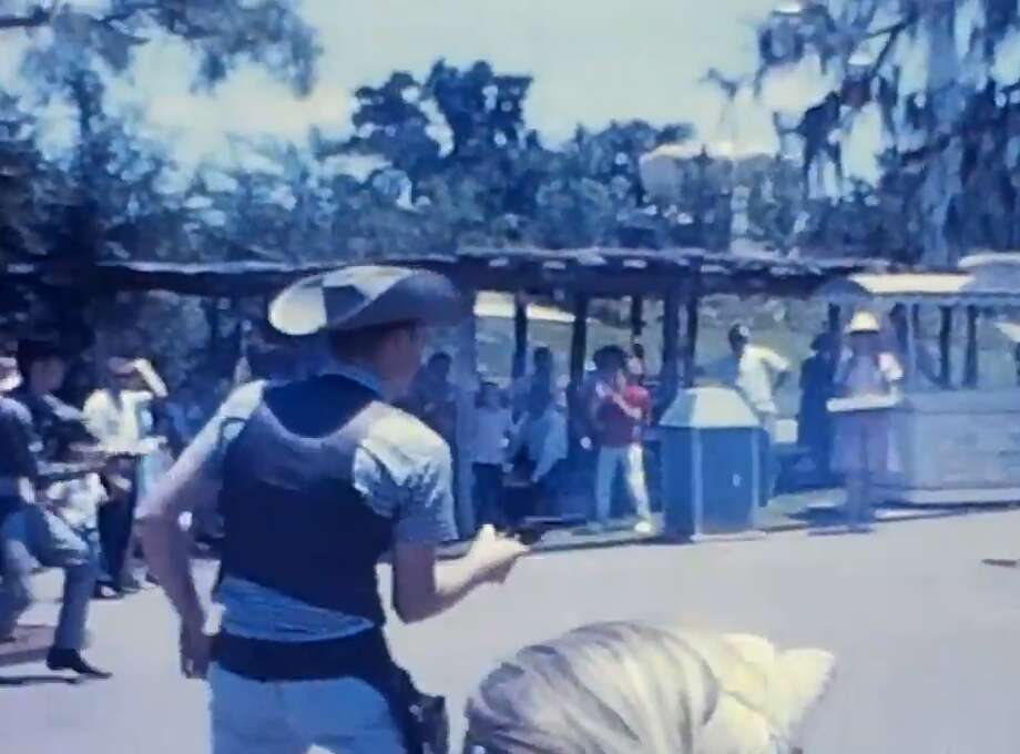 Newfound footage of Six Flags Over Texas in 1962 shows what life was like in the park's early days. The footage is a bit grainy, but viewers can make out some of the more shocking aspects of the park, such as fake bodies hanging from trees. The footage also showsquick clips of rides, playful seals, staged gunfights and the original Skull Island attraction. Photo: Forgotten Now Found