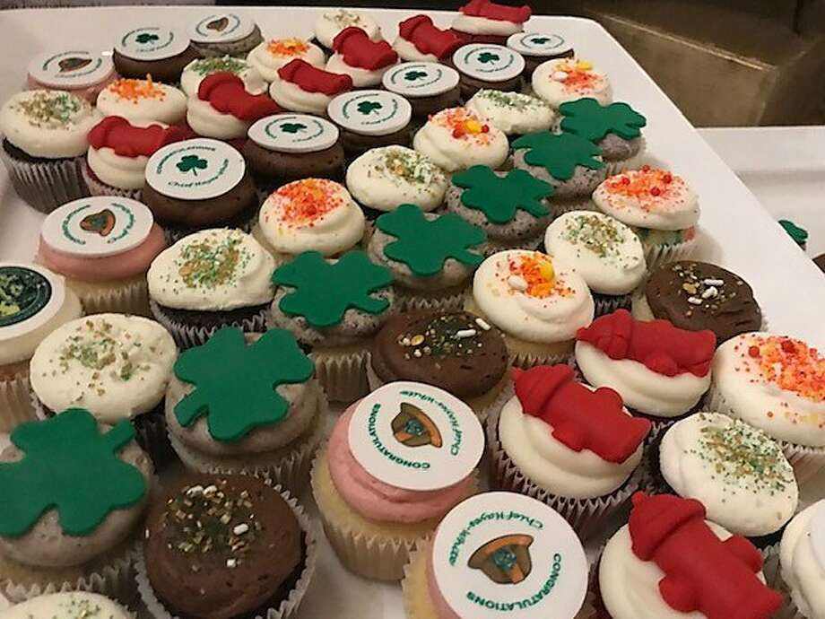 Cupcakes at Joanne Hayes-White's retirement party Photo: Leah Garchik / The Chronicle