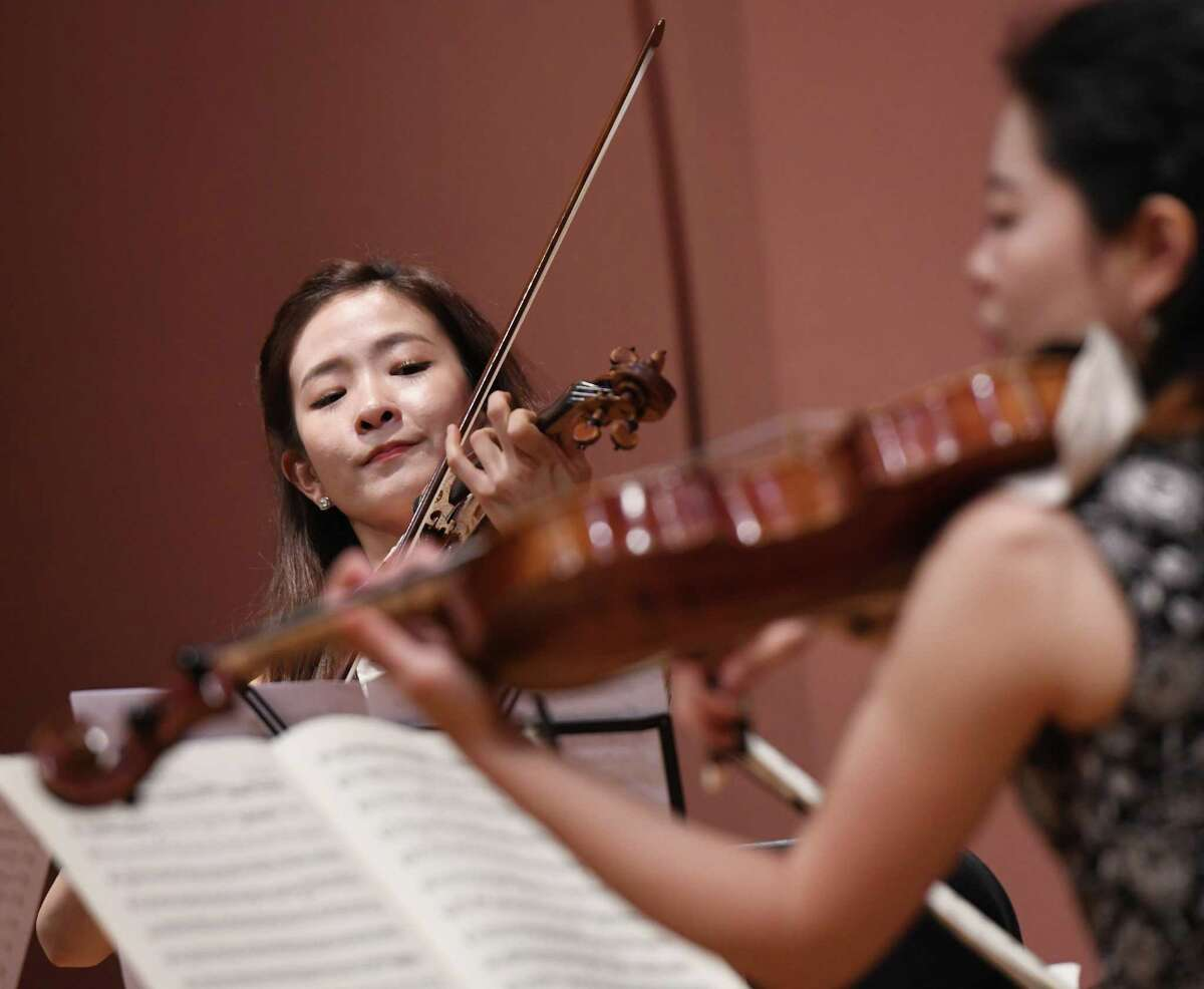 YooJin Jang performs on the violinw with the Musicians from Marlboro as part of the Friends Cole Concert Series at Greenwich Library's Cole Auditorium in Greenwich, Conn. Sunday, May 5, 2019. The concert, sponsored by Friends of the Greenwich Library, featured flawless performances of compositions from Schubert, Bartók and Brahms.
