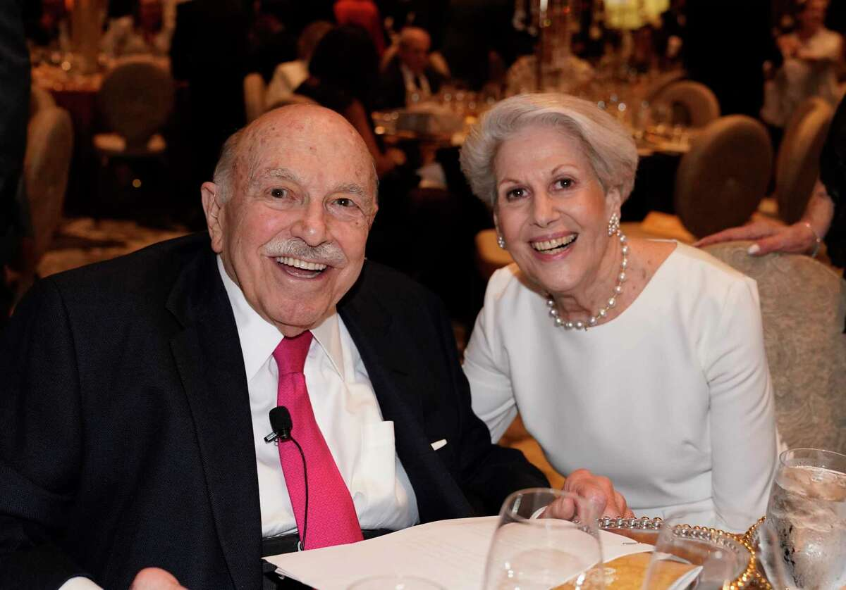 Ed Wulfe and Lorraine Wulfe are shown at the Interfaith Ministry's 2019 Tapestry Gala held at the Post Oak Hotel Tuesday, April 30, 2019, in Houston.