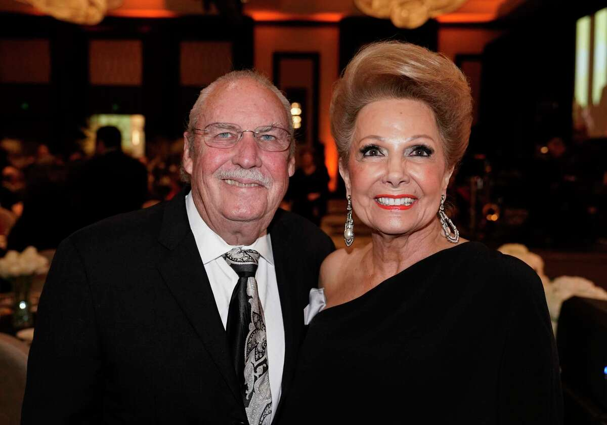 Arthur Baird and Philamena Baird are shown at the Interfaith Ministry's 2019 Tapestry Gala held at the Post Oak Hotel Tuesday, April 30, 2019, in Houston.