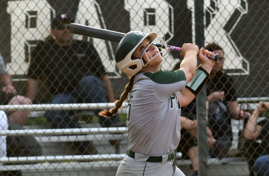 Kingwood Park second baseman Hannah Wilburn follows the flight of her pop-up against Willis in the bottom of the fourth inning of their District 20-5A matchup at KPHS on April 16, 2019. Photo: Jerry Baker, Houston Chronicle / Contributor / Houston Chronicle