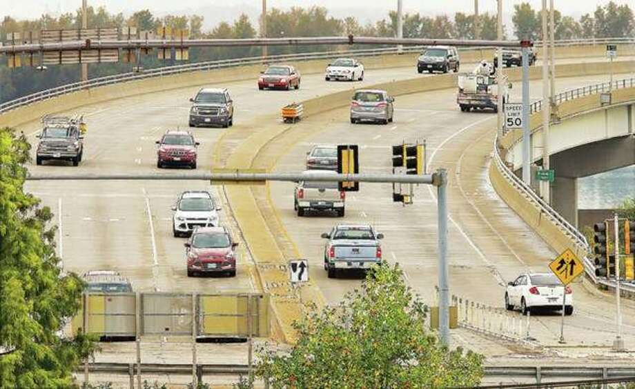 Madison County has placed license plate recognition cameras and technology on the Clark Bridge, and elsewhere, that would identify vehicles involved in possible crimes. Photo: John Badman | Hearst Media