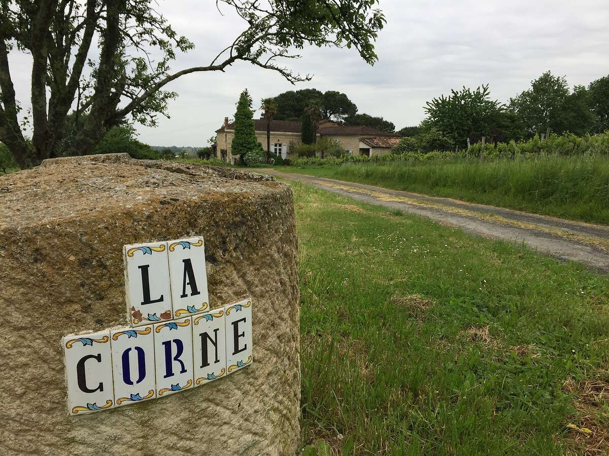 Family photographs of Chateau La Corne, a 7-acre winery and vineyard in Bordeaux owned by Steve Lawrence (pictured) and Diana Lucz. The couple worked in the Napa wine industry but couldn't afford their own vineyard in California, so they moved to Bordeaux.