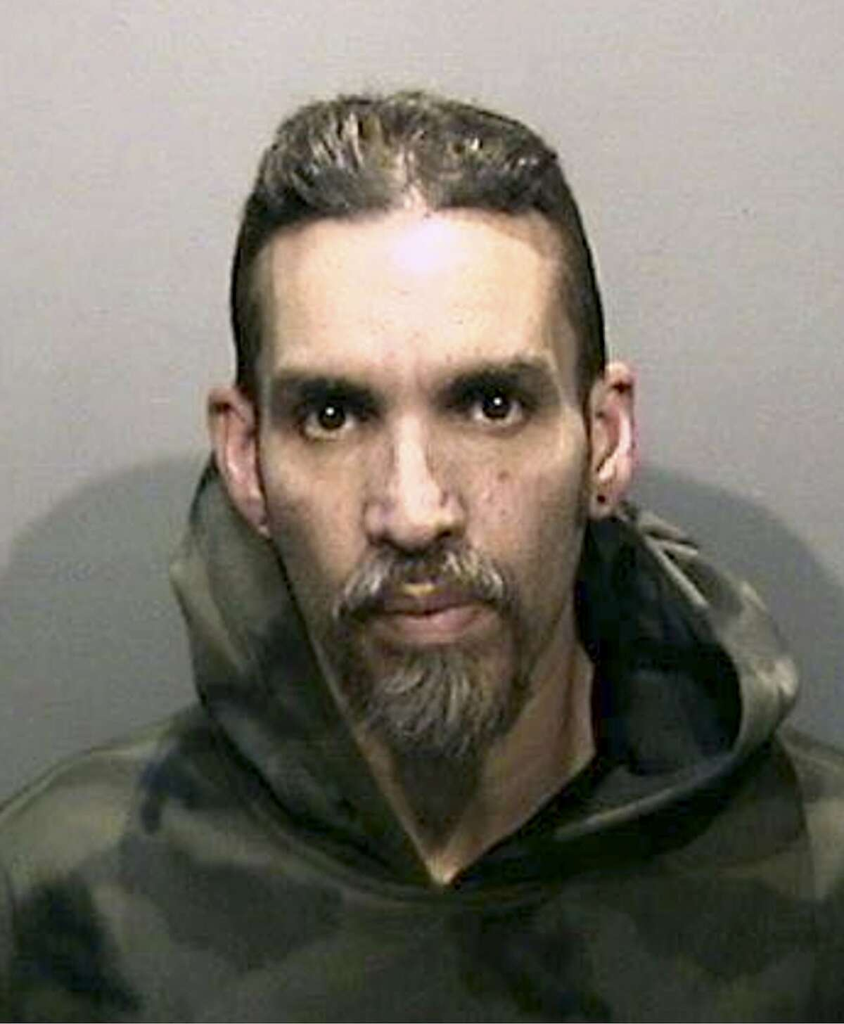 FILE - This Monday, June 5, 2017, file photo released by the Alameda County Sheriff's Office shows Derick Almena at Santa Rita Jail in Alameda County, Calif. Two men who pleaded no contest to 36 charges of involuntary manslaughter will face the family members of those who died in a fire at an illegally converted Northern California warehouse. A two-day sentencing hearing for Almena and Max Harris is scheduled to begin Thursday, Aug. 9, 2018 in Oakland, Calif. (Alameda County Sheriff's Office via AP, File)