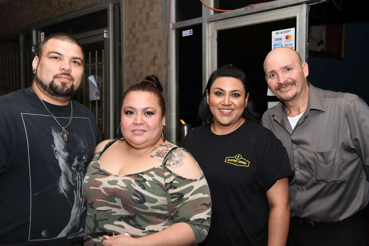 Martin Garcia, Sandy Noriega, Susie Martinez and Cesar de los Santos pose for a photo during the Cinco De Mayo Fest at Electric Lounge, Sunday, May 5, 2019.