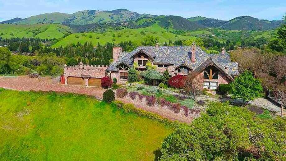 This Alamo mansion sitting on 2.2 acres on a hillside with 360-degree views that include Mount Diablo and the Las Trampas ridgeline is on the market for $3,475,000. Photo: Realtor.com
