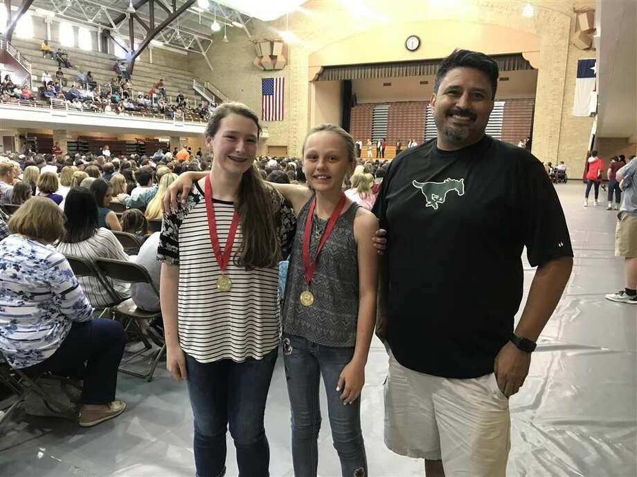 Katy Henly and Kylie Fitzpatrick placed second at the state contest with their documentary on the Triangle Shirtwaist Factory Fire, which took place in 1911 in New York City. Photo: Midland ISD