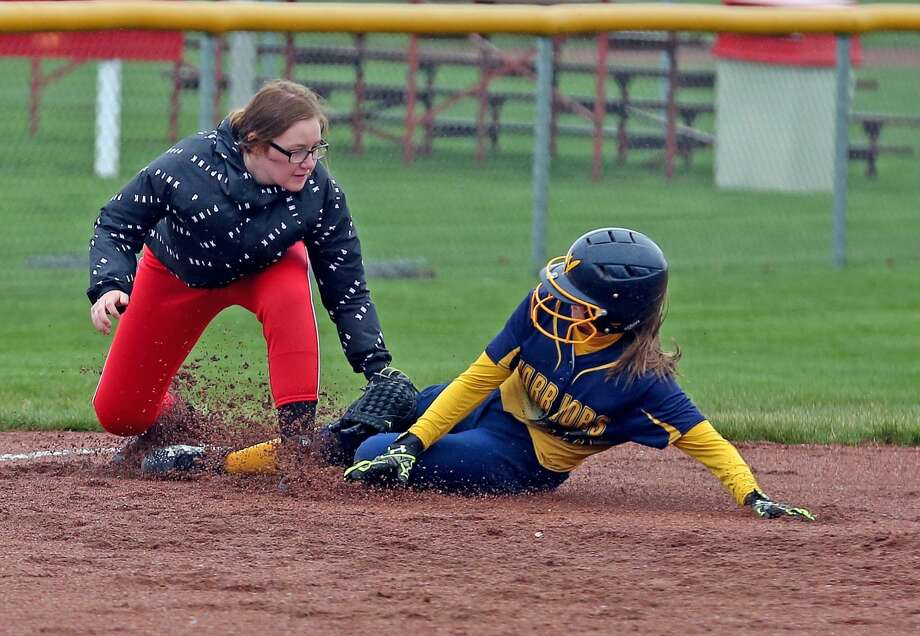 North Huron at Caseville — Softball Photo: Paul P. Adams/Huron Daily Tribune
