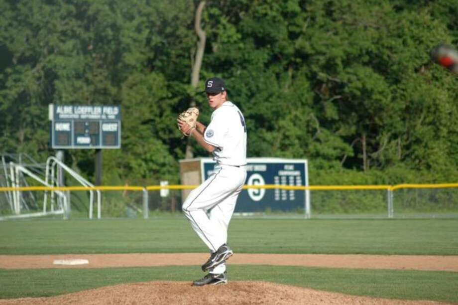 Jimmy Sikorski, a Staples captain before graduating in June, pitched some big games for the Wreckers. Sikorski allowed no earned runs and was the winning pitcher in the 2009 FCIAC championship game. He will be pitching for Cornell University next year. Photo: Contributed Photo / Pam Moss