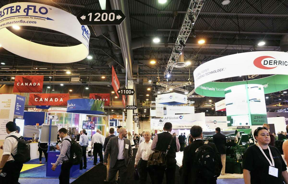 Organizers of the Offshore Technology Conference, the largest oil and natural gas trade show in the world, say they plan to continue with the annual Houston expo despite the global coronavirus outbreak, which has canceled similar events around the world.