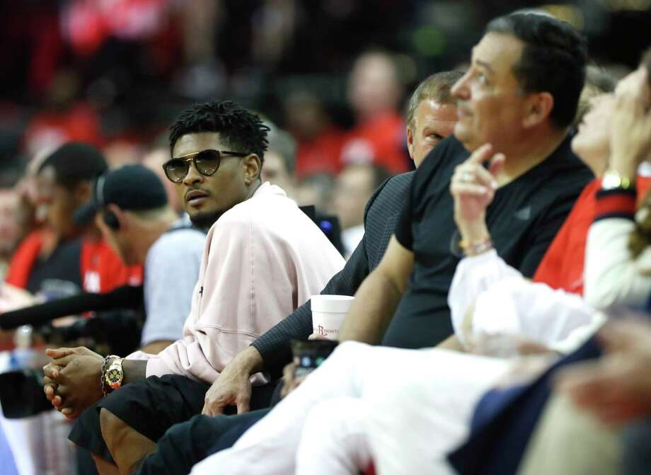 PHOTOS: Take a look at the celebrities spotted at the Rockets' win over the Warriors on Monday night Usher sits courtside next to Rockets owner Tilman Fertitta and Houston police chief Art Acevedo during the second half of Game 4 of a NBA Western Conference semifinal playoff game at Toyota Center, in Houston , Monday, May 6, 2019. Browse through the photos above for a look at some of the celebrities who were at Toyota Center for Game 4 of the Rockets-Warriors series ... Photo: Karen Warren, Staff Photographer / © 2019 Houston Chronicle
