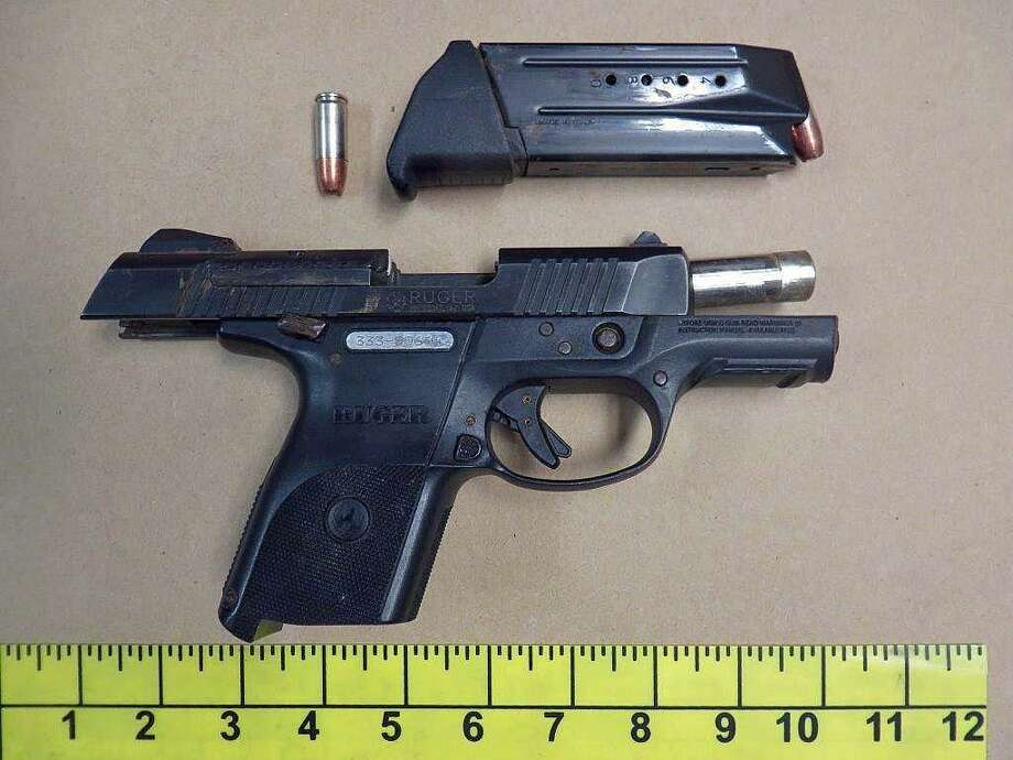 A photo of the stolen handgun that police say Richard C. Anderson, of Stamford, had in possession Monday. Anderson, a convicted felon, was arrested on Monday, May 6, 2019 and charged with criminal possession of a firearm, carrying a firearm without a permit, possession of a weapon in a motor vehicle and theft a firearm. Photo: Stamford Police Photo