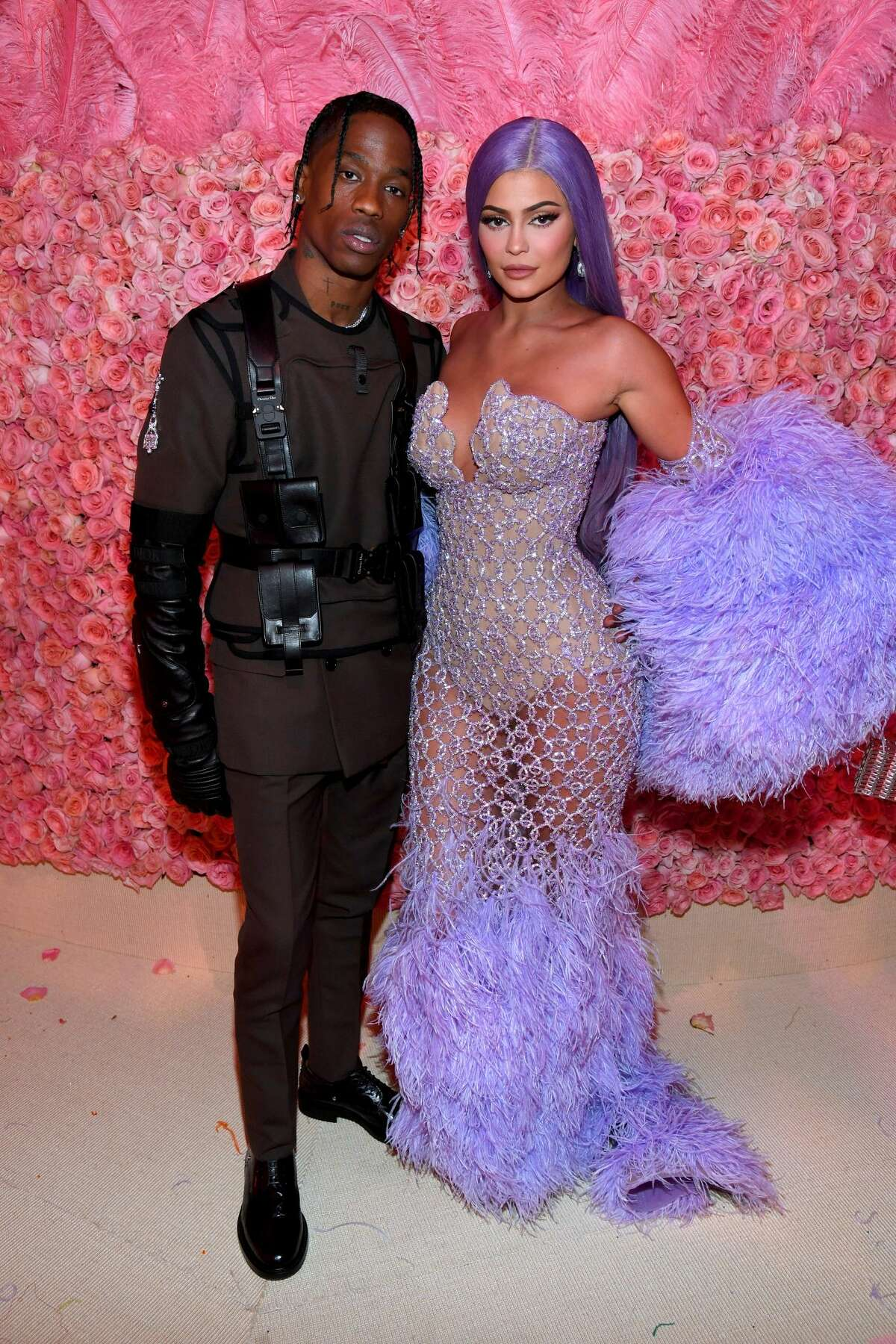 NEW YORK, NEW YORK - MAY 06: (EXCLUSIVE COVERAGE) Houston's Travis Scott and Kylie Jenner attends The 2019 Met Gala Celebrating Camp: Notes on Fashion at Metropolitan Museum of Art on May 06, 2019 in New York City. (Photo by Kevin Mazur/MG19/Getty Images for The Met Museum/Vogue)