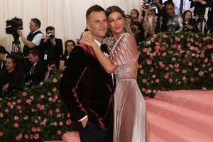 "NEW YORK, NY - MAY 06:  Gisele Bundchen and Tom Brady attend the 2019 Met Gala celebrating ""Camp: Notes on Fashion"" at The Metropolitan Museum of Art on May 6, 2019 in New York City.  (Photo by Taylor Hill/FilmMagic)"