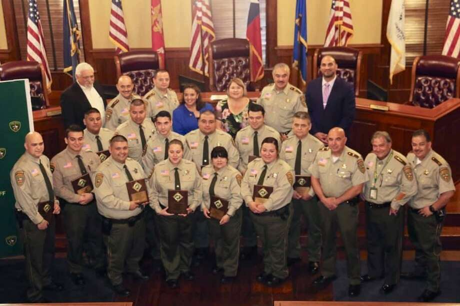 The Webb County Sheriff's Office recognized its correctional officers on Monday during the 2019 National Correctional Officers Week Proclamation and Award Ceremony. Photo: Courtesy Photo /Webb County Sheriff's Office