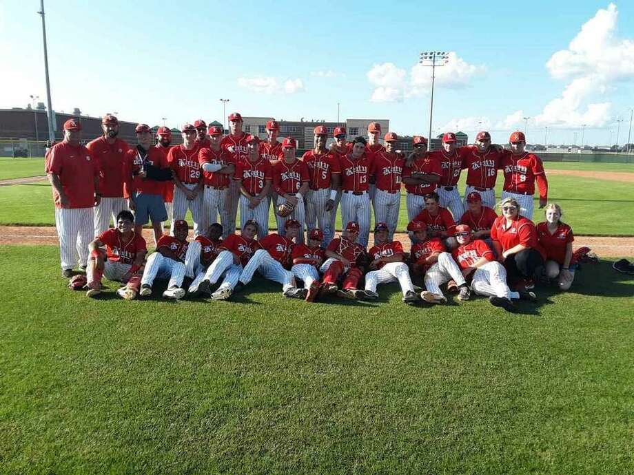 The Katy baseball team defeated Dulles 2-0 in a one-game Region III-6A bi-district playoff May 4 at Morton Ranch High School. The Tigers will play Lamar in the area playoffs. Photo: Katy High School / Katy High School