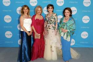 HOUSTON, TEXAS - MAY 03: Cheryl Byington, Mary Ann McKeithan, Hallie Vanderhider and Beth Wolff attend the 6th Annual UNICEF Gala Houston 2019 at The Post Oak Houston on May 03, 2019 in Houston, Texas.